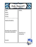 Winter Substitute Report Form