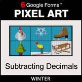 Winter: Subtracting Decimals - Pixel Art Math   Google Forms