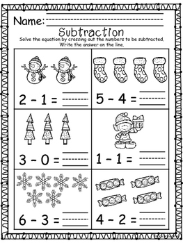 Winter Subtraction 0-10