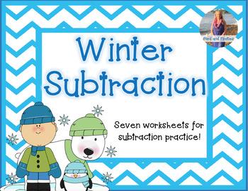 Winter Subtraction Worksheets **FREEBIE*