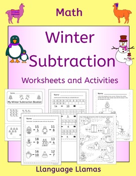 Winter Subtraction Worksheets and Activities