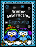 3.NBT.2 Winter Themed 3 Digit Subtraction With Regrouping