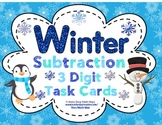 Winter Subtraction (3 Digits) Task Cards