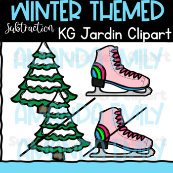 Winter Subtraction Clipart  (scribble clips)