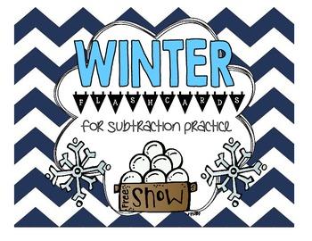 Winter Subtraction Flashcards [FREEBIE!]
