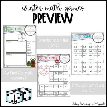 Winter Subtraction Math Games