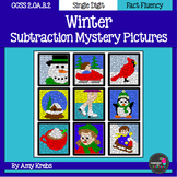 Winter Subtraction Mystery Pictures