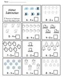 Winter Subtraction Practice Worksheet *Freebie*