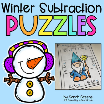 Winter Subtraction Puzzles!