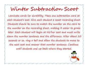 Winter Subtraction Scoot