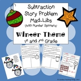 Winter Subtraction Story Problem Mad Libs