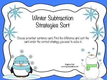 Winter Subtraction Strategies Sort