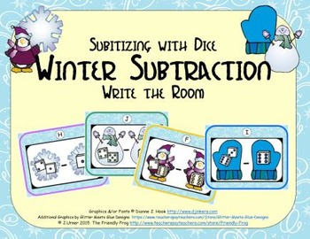 Winter Subtraction {Subitizing with Dice}