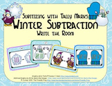 Winter Subtraction {Subitizing with Tally Marks}