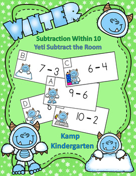 Winter Subtraction Within 10 Yeti Subtract the Room