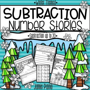 Winter Subtraction Word Problems