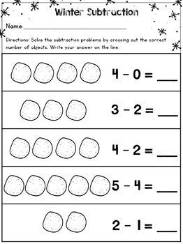 Subtraction Worksheets For Kindergarten Printable Free