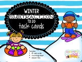Winter Subtraction to 20 Task Cards