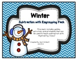 Winter Subtraction with Regrouping
