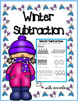 Winter Subtraction with Visuals