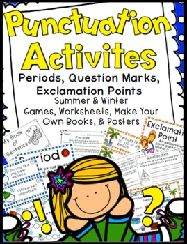 Punctuation Activities: Periods, Question Marks, &  Exclam