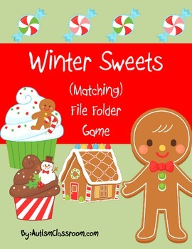 Winter Sweets File Folder (Matching) Game