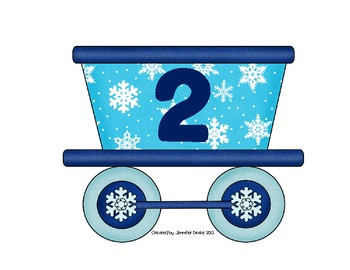 Winter Syllable Center/Game ~All Aboard The Syllable Train~ Sort 1-4 Syllables!
