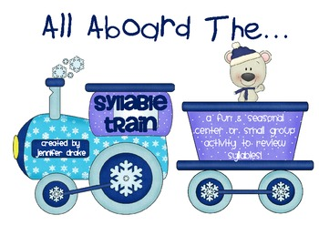 Winter Syllable Center/Game ~All Aboard The Syllable Train