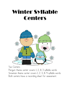 Winter Syllable Centers