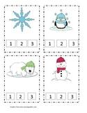 Winter Syllable Clip Cards