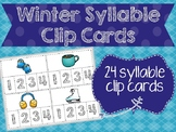 Winter Syllable Clip Cards