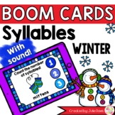 Winter Syllable Counting Digital Game Boom Cards