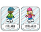 Winter Syllable FREEBIE! {Literacy Station in COLOR and BL