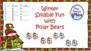 Winter Syllable Fun With Polar Bears
