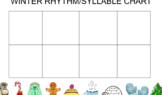 Winter Syllable/Rhythm Interactive Chart- Smartboard