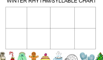 Winter Syllable/Rhythm Interactive Chart- Smartboard