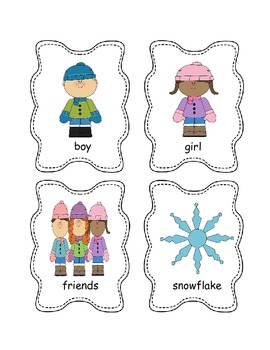 Winter Syllable Sort {A Phonemic Awareness Activity}