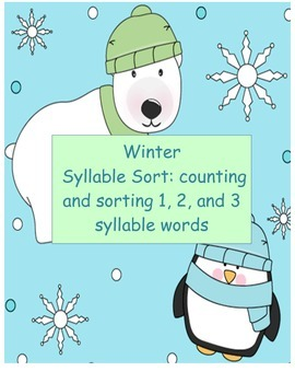 Winter Syllable Sort