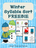 Winter Freebie: Syllable Sort