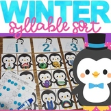 Winter Syllable Sort Activity