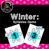 Winter Syllable Sorting game using Dolch list