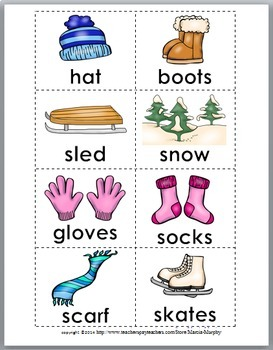 Syllables Sort - Winter