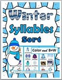 Syllables Sort - Winter Theme - Winter Activities
