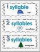 Syllables Sort - Winter Theme - Winter Activities