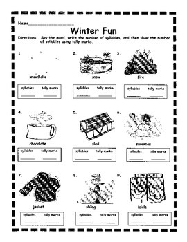 Winter Syllables & Tally Marks