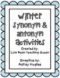 Winter Synonym and Antonym Practice