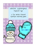 Winter Synonyms Match-Up