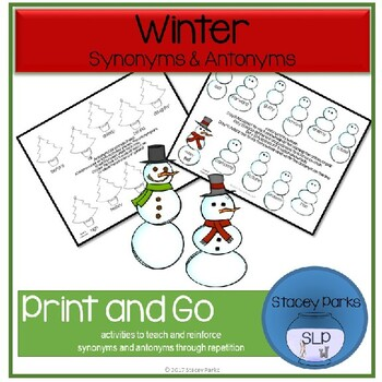 Winter Synonyms and Antonyms