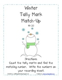 Winter Tally Mark Match Up (Numbers to 20)