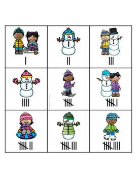 Winter Tally Mark Memory Match